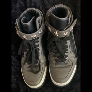 Givenchy Grey Tyson High-Top Sneakers